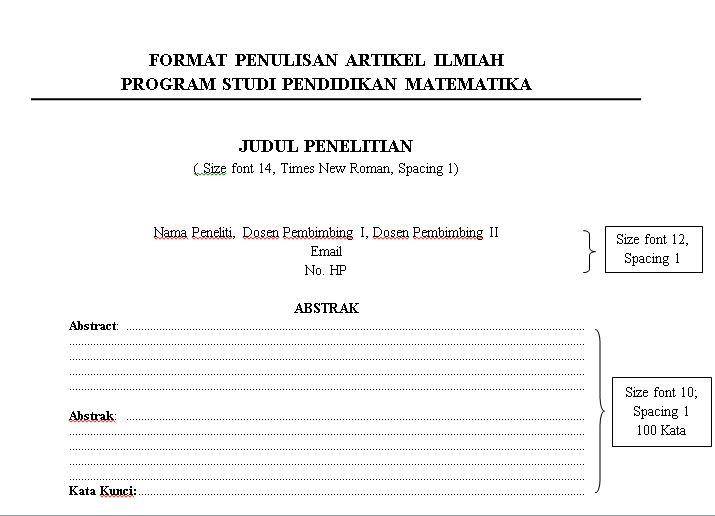 Format Surat Pendidikan Matematika Universitas Muhammadiyah Malang